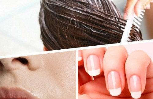 saç cilt tırnaklar