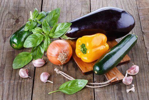 çeşitli sebzeler