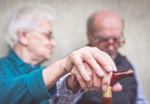 yaşlı bir çift