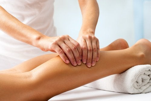 bacağın arkasına masaj