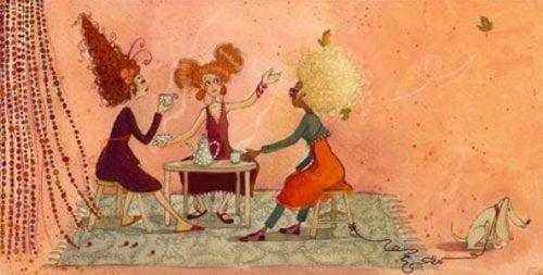 kahve içen kadınlar