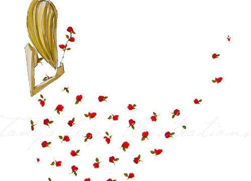 çiçekli elbiseli kadın