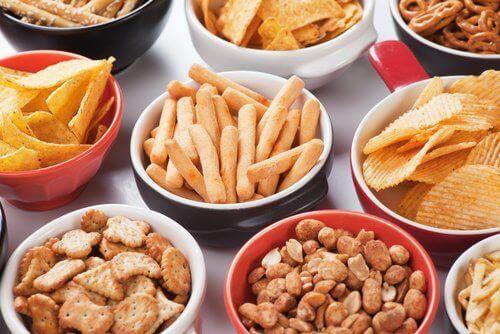 tuzlu yiyecekler