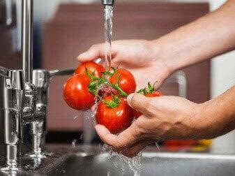 sebze yıkamak için elma sirkesi
