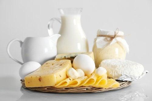 süt ürünleri tepsisi