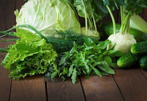 Yeşillikler kereviz salatalık