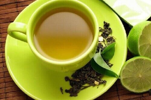 yeşil çay limon