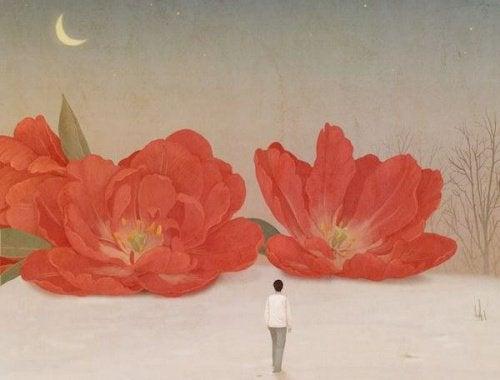çiçekler ve insan