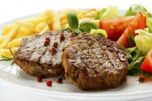 biftek ve patates kızartması