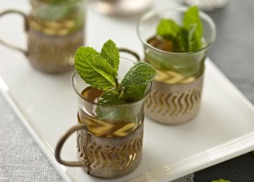 maydanoz ve nane çayı