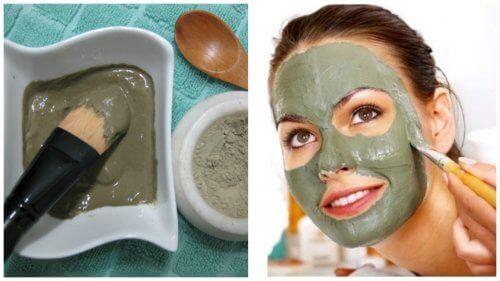 Siyah Nokta, Sivilce ve Lekeler için Yeşil Yüz Maskesi