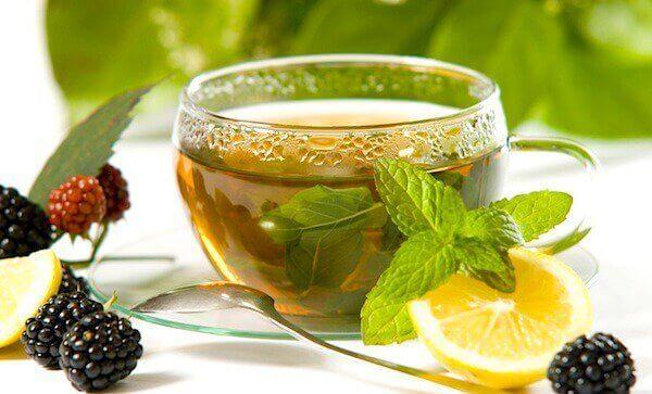 limonlu yeşil çay nane