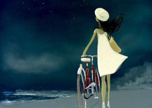 bisiklet ve kadın