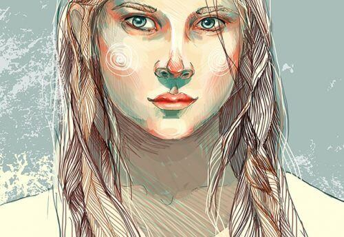 kadın çizim