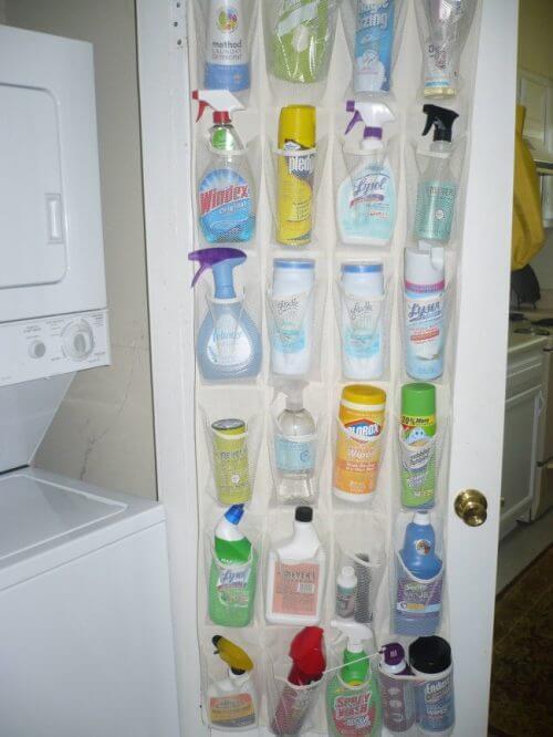 temizlik malzemelerini koyacak yer