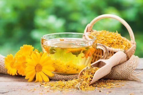 vajinal kuruluk için kadife çiçeği çayı