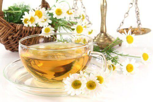 vajinal kuruluk için papatya çayı