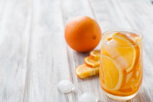 portakal dilimli su