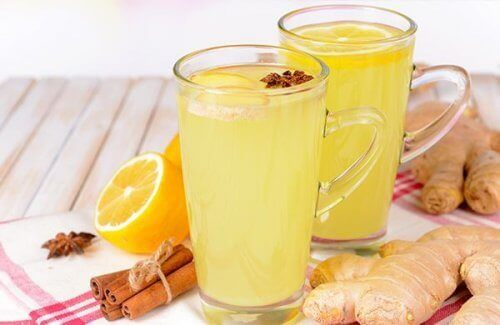 2 bardak portakal ve zencefil suyu