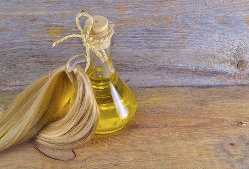 saç ve bitkisel yağ