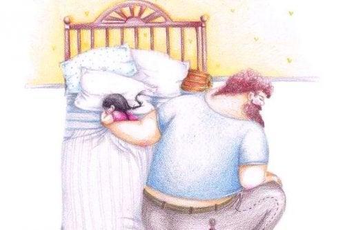 baba ve kızı uyku vakti