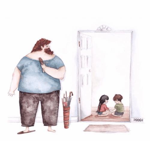 ebeveyn çocukları gözetir