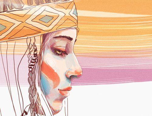 yerli kadın resmi