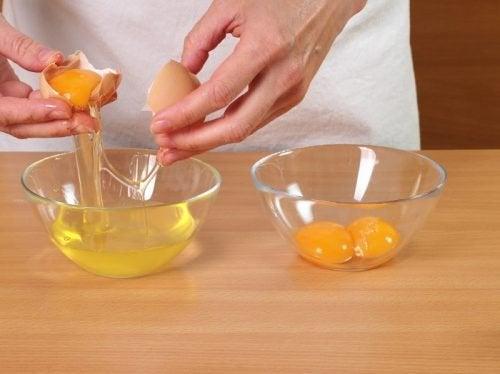 kasede yumurta beyazini ayırmak