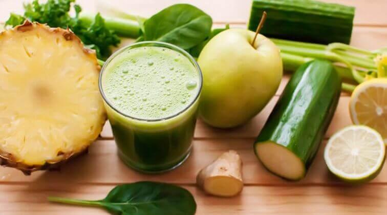 ananaslı salatalıklı detoks