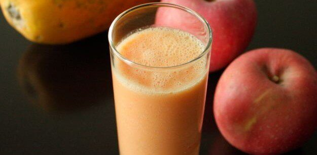 elma ve papaya suyu