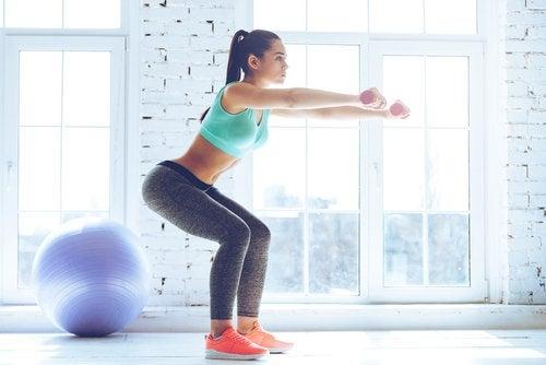 sıkı kalça ve bacaklar için egzersizler