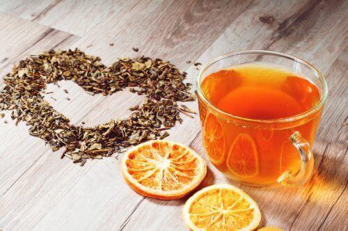portakal kabuğu çayı