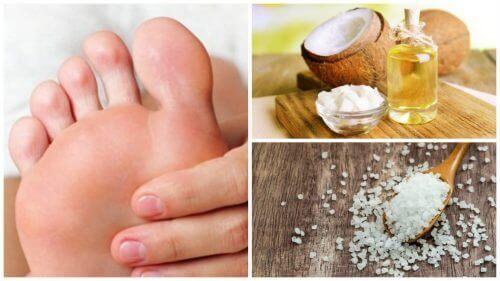 Hindistancevizi Yağı ve Tuz ile Ayaklarınızdaki Ölü Deri Hücrelerini Temizleyin
