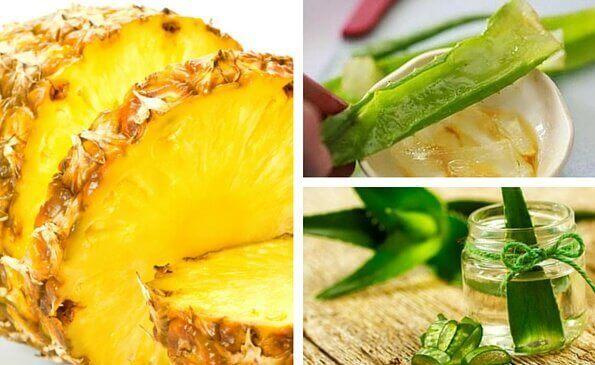 aleo vera ve ananas