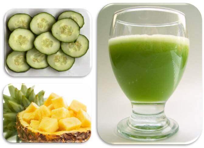 ananas ve salatalık