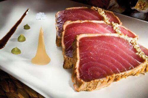 dilimlenmiş ton balığı