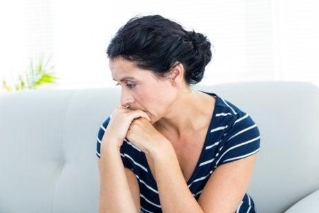 anksiyete yaşayan kadın