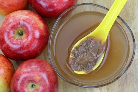 elma ve elma sirkesi karışımı