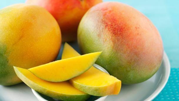 dilimlenmiş mango