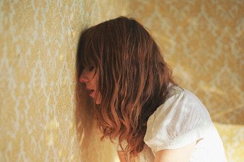 depresyonda olan kadın