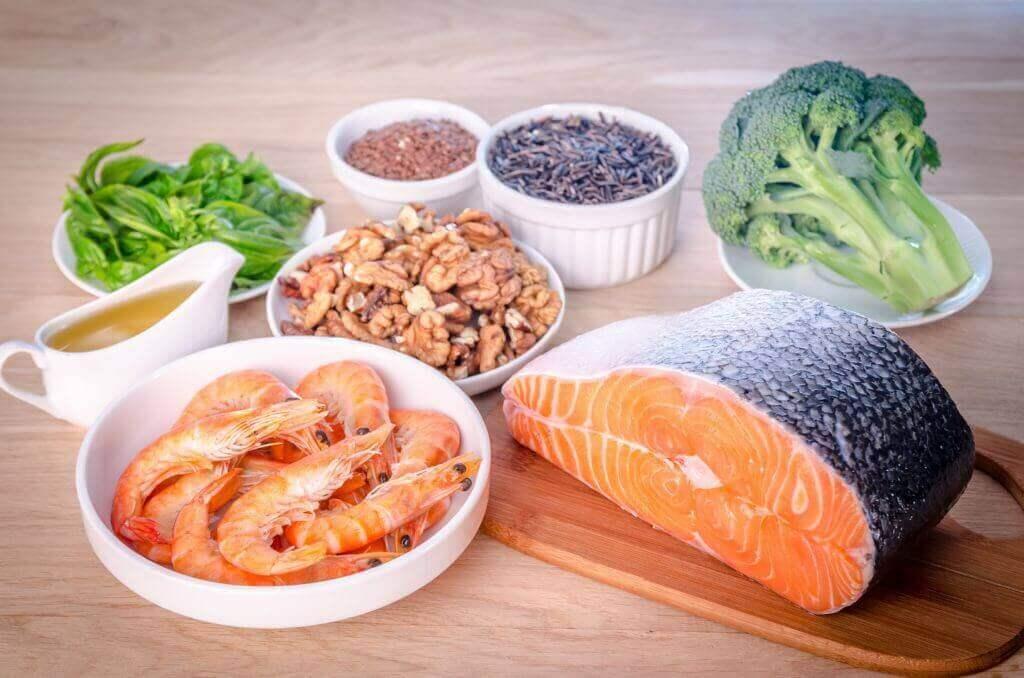 karides balık brokoli ceviz nane baharatlar