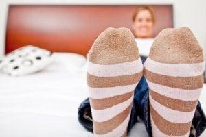 bacak sirkülasyonunu iyileştirmek için özel çoraplar