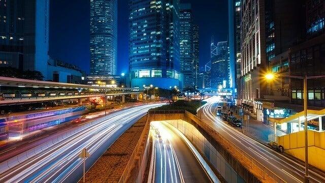 şehirdeki ışıklar