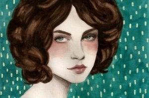 kahverengi saçlı kız