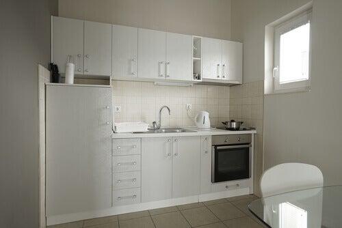 l şeklinde küçük mutfaklar