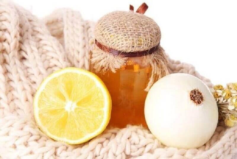 öksürük için soğan bal ve limon