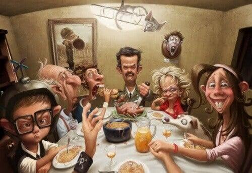 tartışan aile