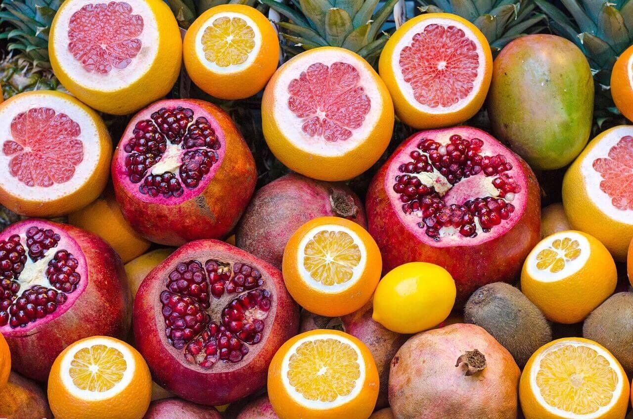 portakal nar ve limon