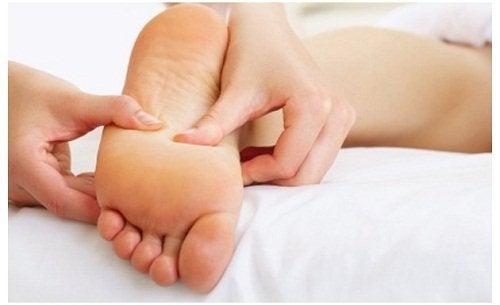 ayak tabanına masaj