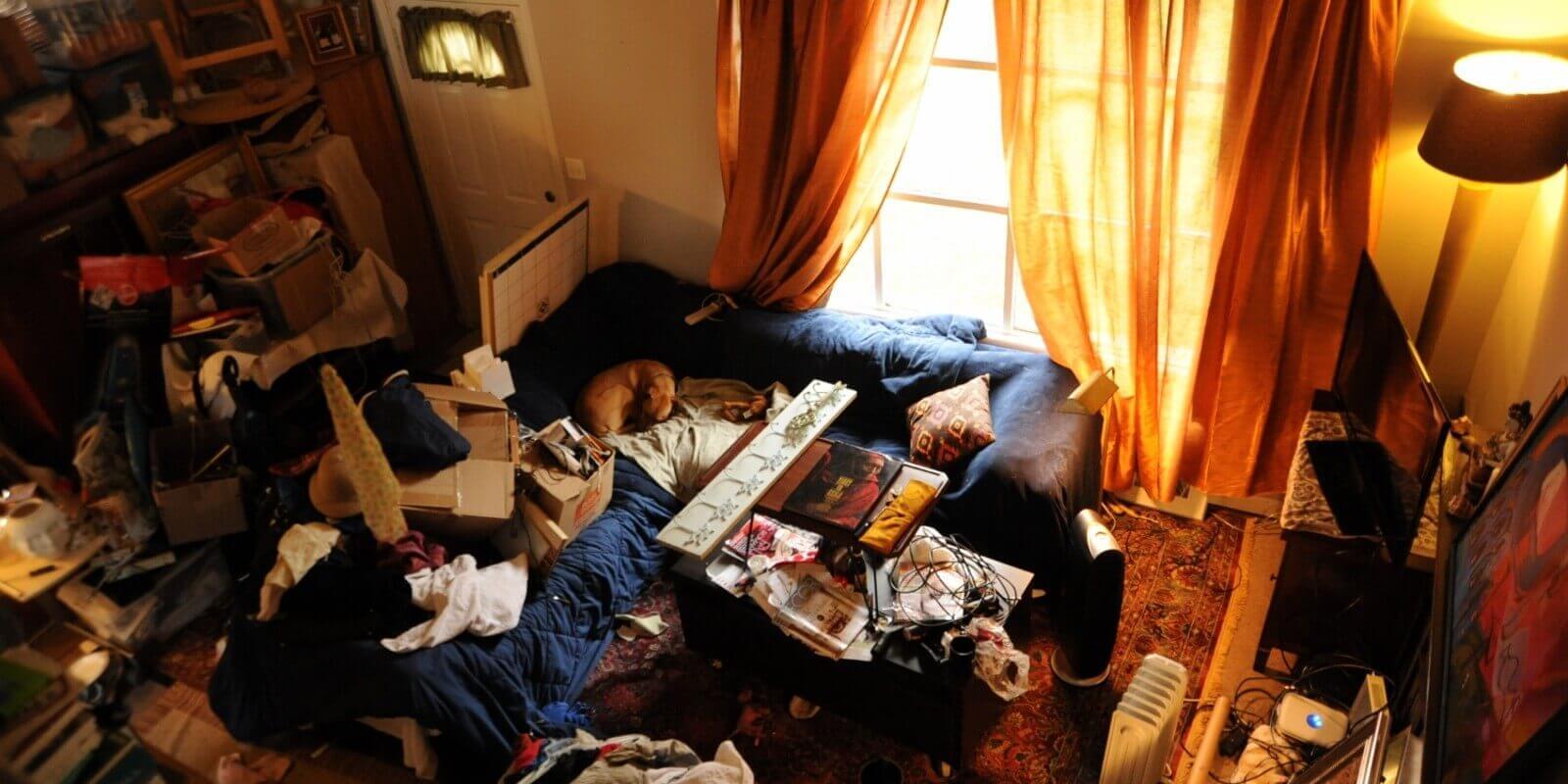 dağınık bir oda
